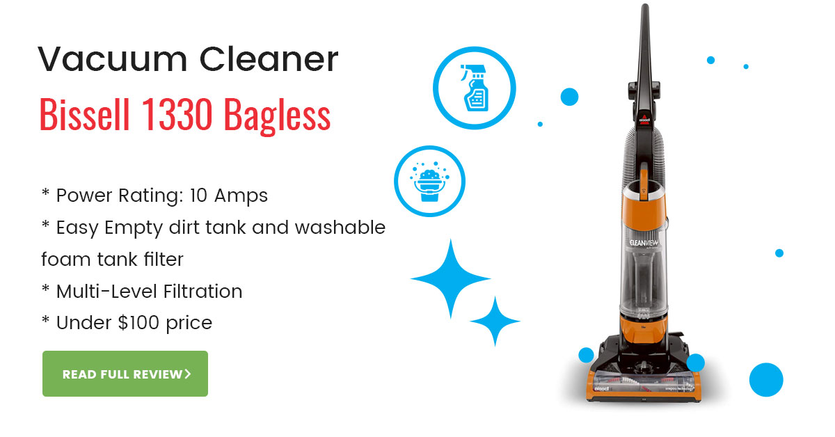 Bissell 1330 Bagless Upright Vacuum Cleaner Review