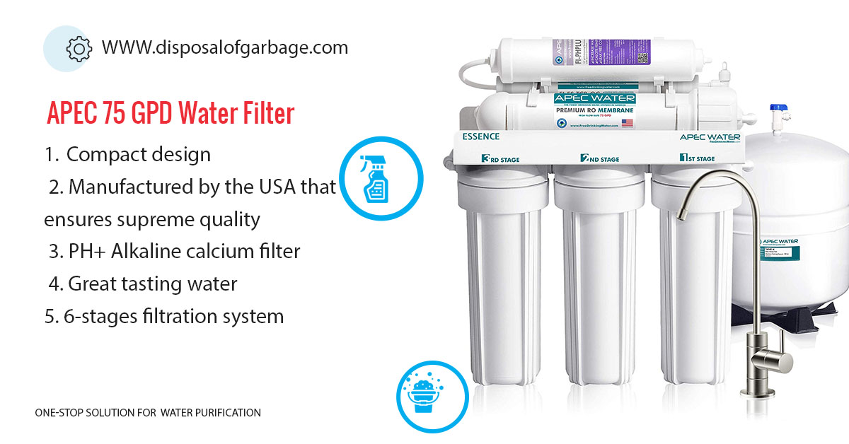 APEC 75 GPD Drinking Water filter review