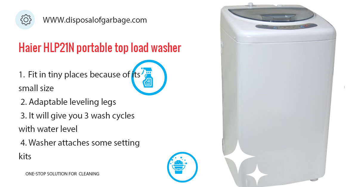Haier HLP21N portable top load washer
