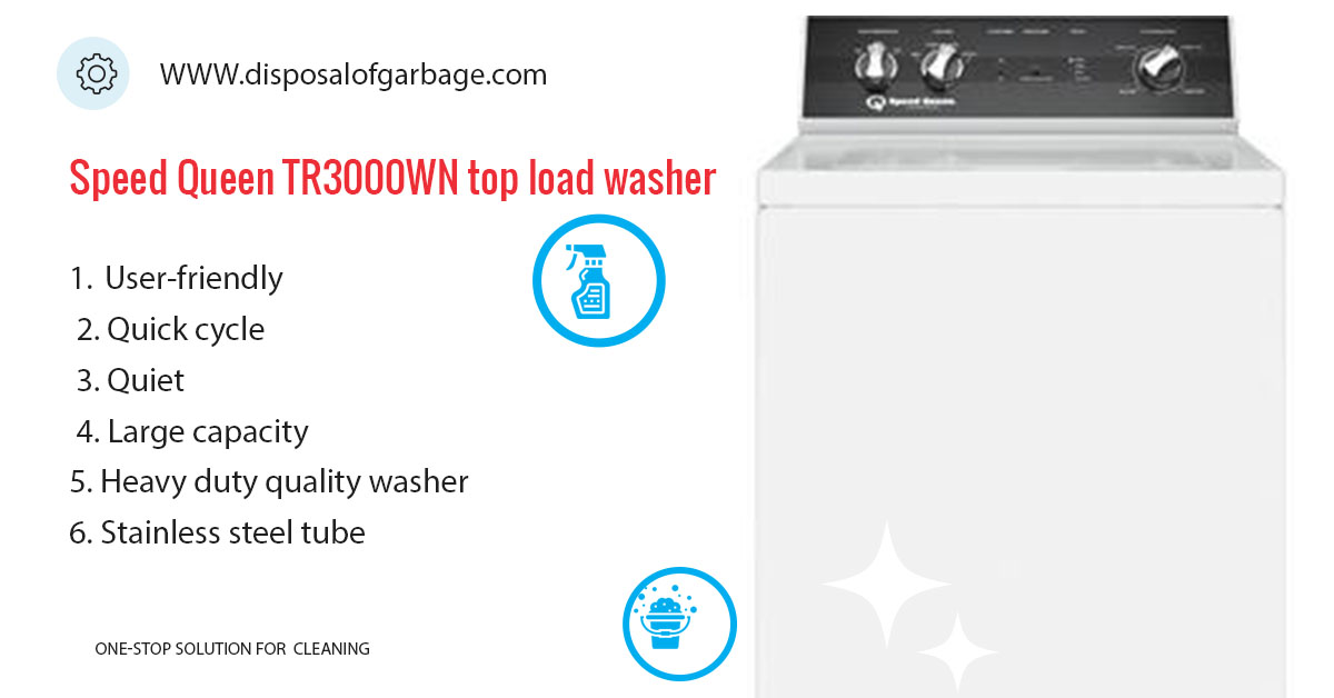 Speed Queen TR3000WN Review – Large Capacity Top Load Washer