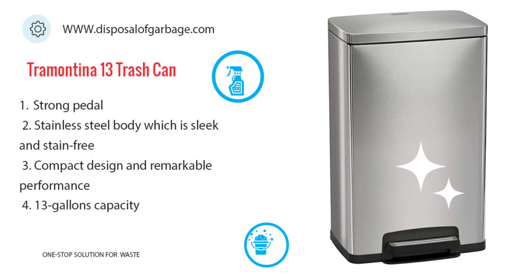 Tramontina 13 Gallons Trash Can Review
