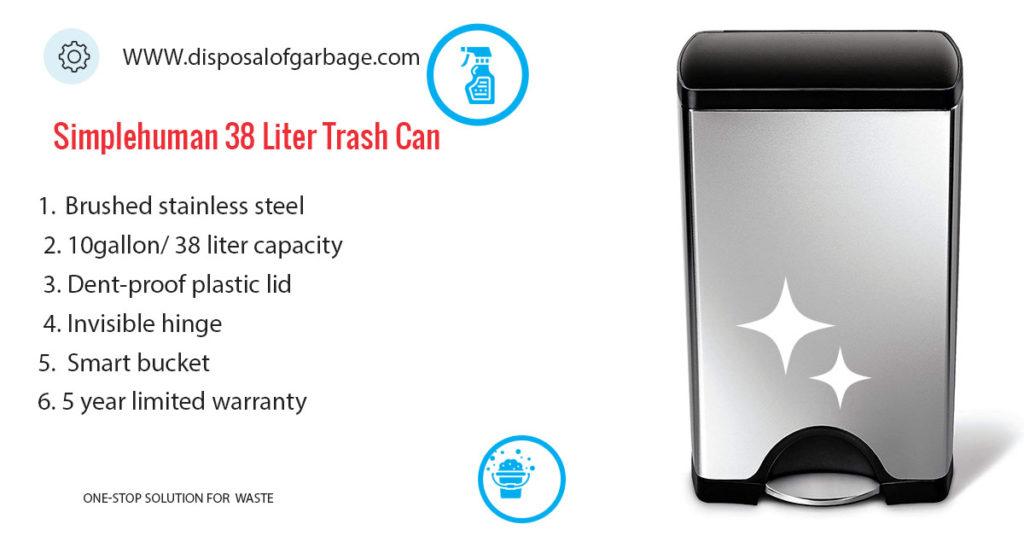 Simlehuman 38 Litre trash can review