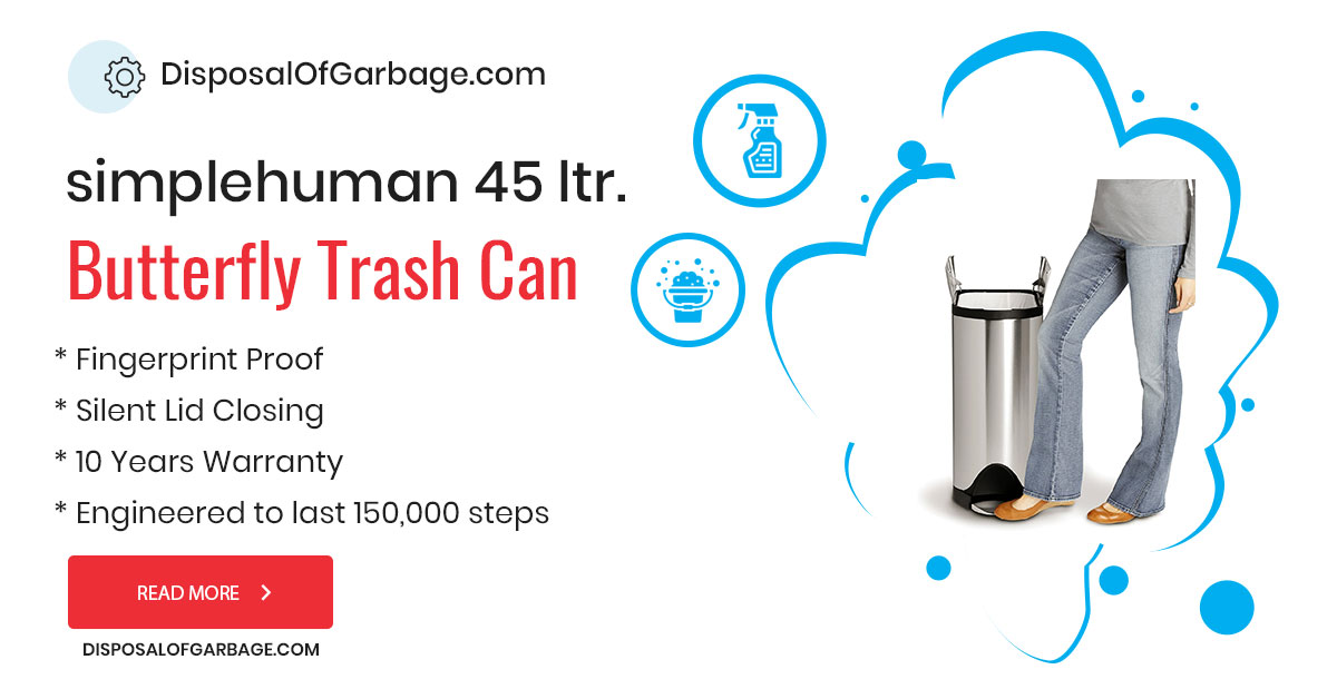 simplehuman 45 Liter Trash Can Review – Exclusive Butterfly Lid