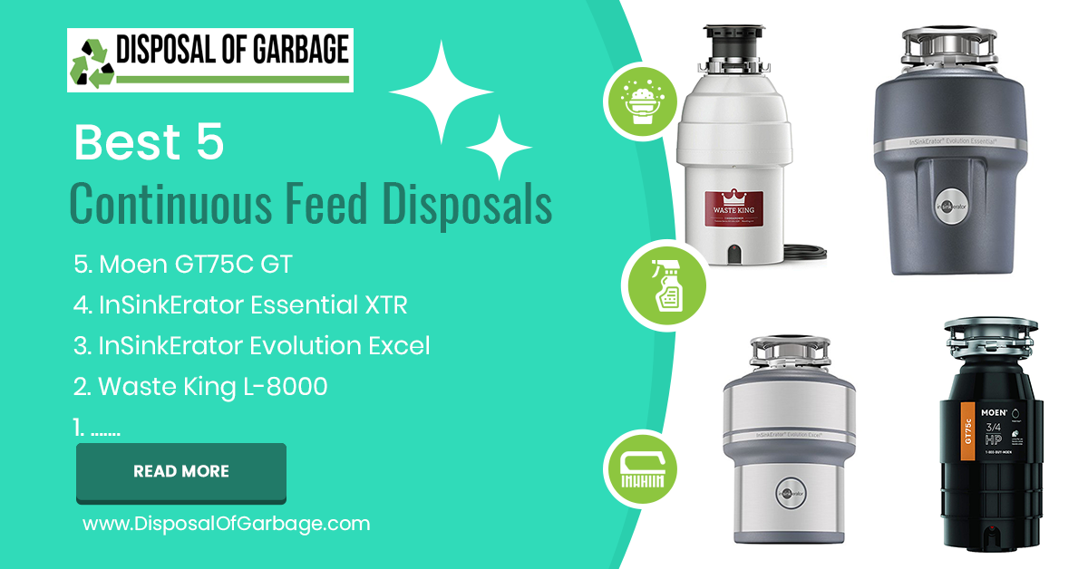 best continuous feed garbage disposal