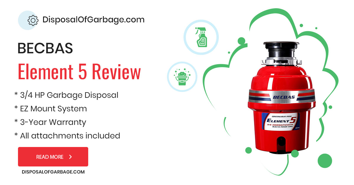 BECBAS Element 5 Review – 3/4 HP Garbage Disposal